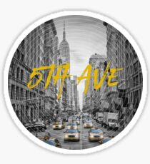 Graphic Art NYC 5th Avenue Sticker