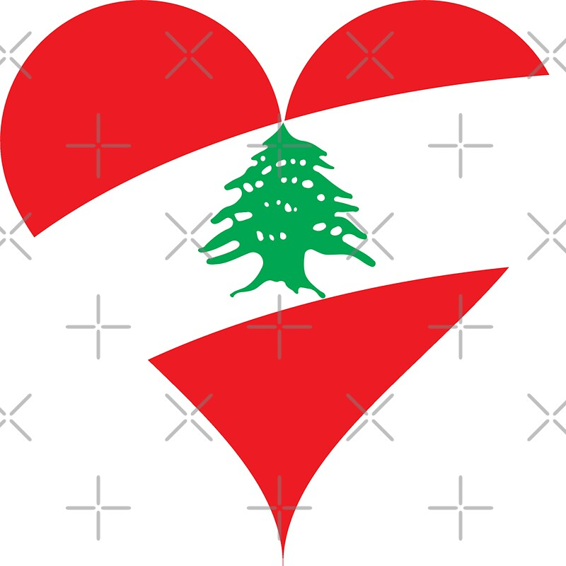 """Lebanon Flag Heart"" Stickers by limitlezz 
