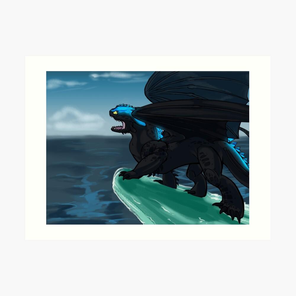 Defender of Berk - Alpha Toothless Art Print