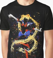 Abtract Sailor Moon Graphic T-Shirt