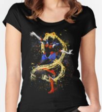 Abtract Sailor Moon Women's Fitted Scoop T-Shirt