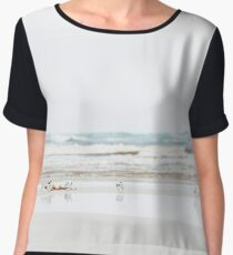 Plovers at the beach Chiffon Top