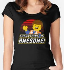 Everything is awesome! Women's Fitted Scoop T-Shirt