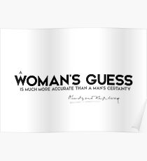 womans guess - rudyard kipling Poster