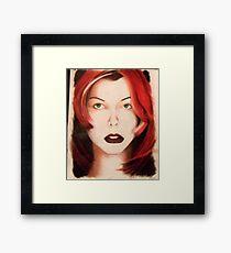 Milla - Red Hair Framed Print