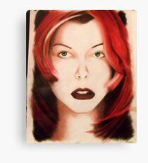 Milla - Red Hair Canvas Print