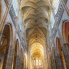 Czech Republic. Prague. Cathedral. Gothic Vaults. by vadim19