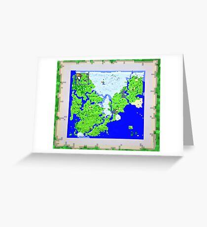 Mining Map King Size Duvet  Greeting Card