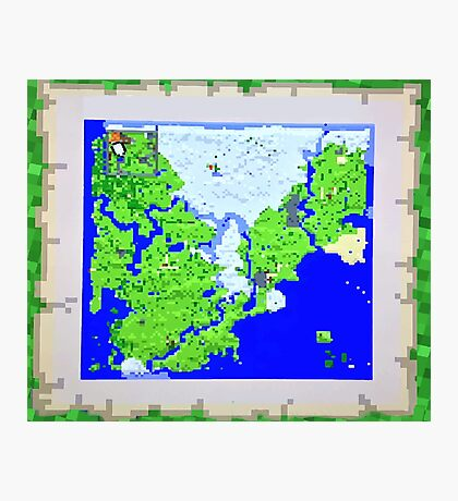 Mining Map King Size Duvet  Photographic Print