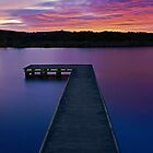 """River Pier Sunrise""Anglesea,Great Ocean Road,Australia. by Darryl Fowler"