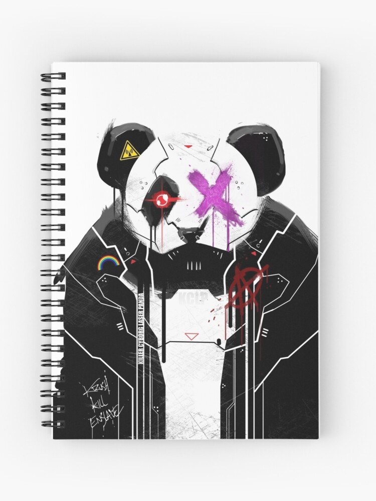 Killer Cyborg Laser Panda - Pop Punk | Spiral Notebook