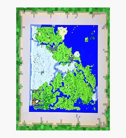 Mining Map Twin Size Duvet  Photographic Print