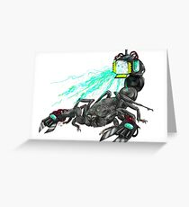 awesome laser scorpion Greeting Card