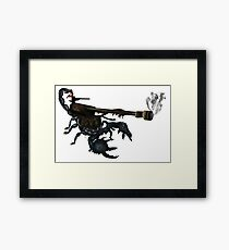 awesome tank cannon scorpion boom  Framed Print