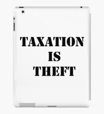 Taxation is Theft 01 (Prison style) iPad Case/Skin