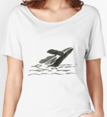 WHALE Women's Relaxed Fit T-Shirt
