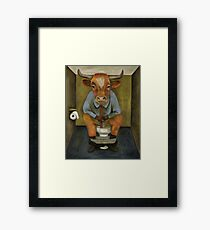 Bull Shitter Framed Print
