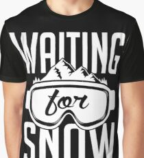 Skiing: Waiting for snow Graphic T-Shirt