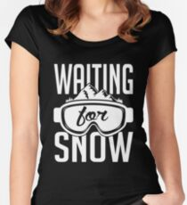 Skiing: Waiting for snow Women's Fitted Scoop T-Shirt