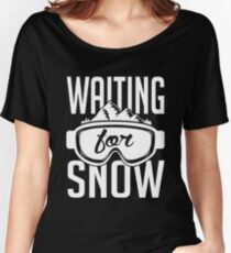 Skiing: Waiting for snow Women's Relaxed Fit T-Shirt