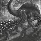 ankylo vs spinosaur von Florian  Gelbmann