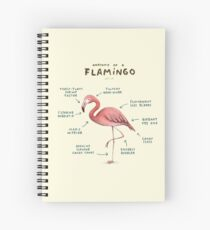 Anatomy of a Flamingo Spiral Notebook