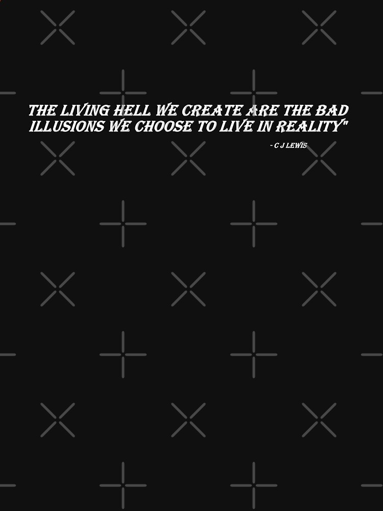 The Living Hell (white words on dark T's) by chrisjoy
