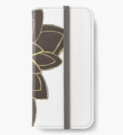 Styled Flower iPhone Wallet