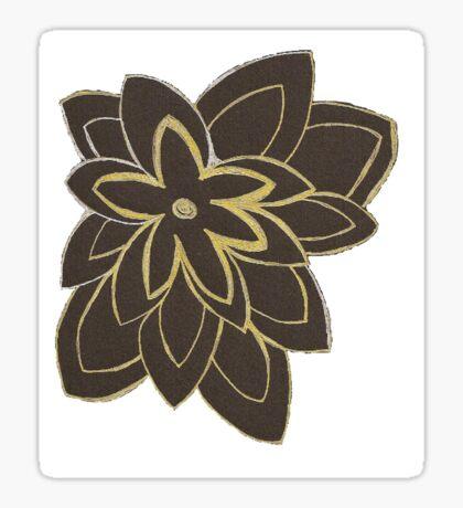 Styled Flower Sticker
