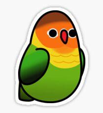 Too Many Birds! - Orange n' Green Lovebird Sticker