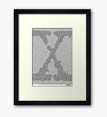 The X-Files Pilot Script - Black Framed Print
