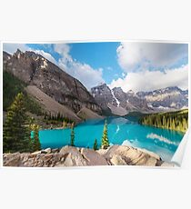 Moraine Lake Banff National Park Poster