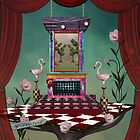 Surreal stage with stuff inspired by Alice in wonderland fairytale by Ellerslie