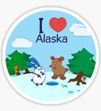 Ernest and Coraline | I love Alaska Sticker