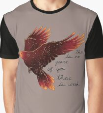 """""""There is No Part of You That is Weak"""" Galaxy Raven Graphic T-Shirt"""