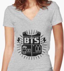 BTS Women's Fitted V-Neck T-Shirt