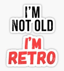 Funny Retro Birthday T Shirt Sticker