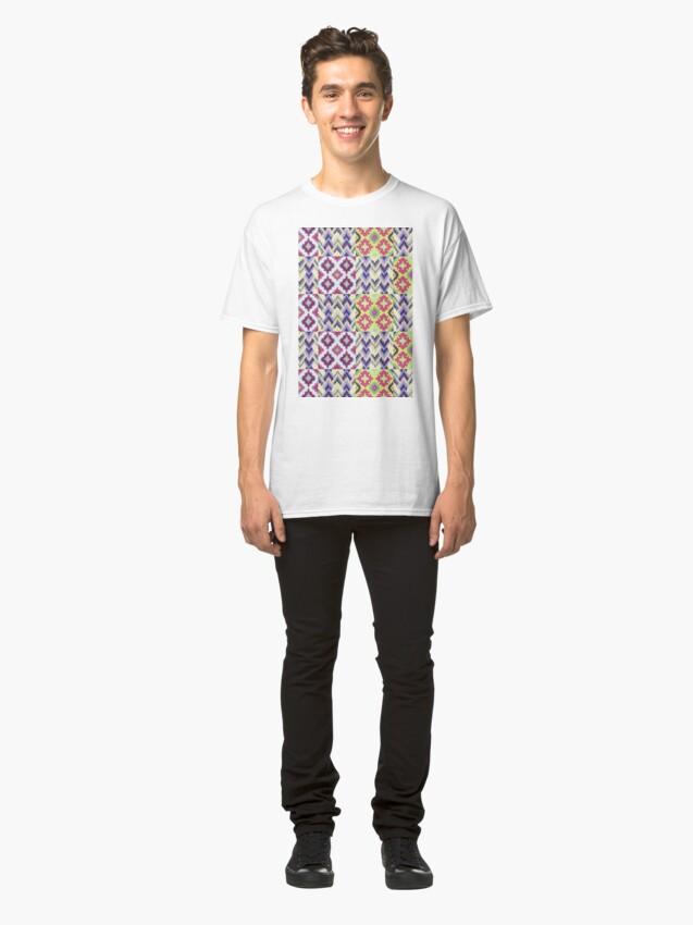 Alternate view of Decorative Ikat Pattern Classic T-Shirt