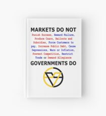 Markets DO NOT, GOVERNMENTS DO by Paine's Torch Hardcover Journal