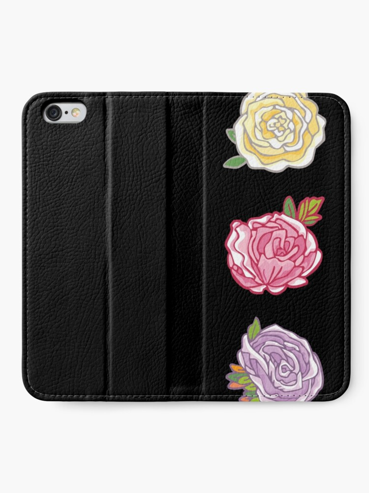 Alternate view of Decorative Roses iPhone Wallet