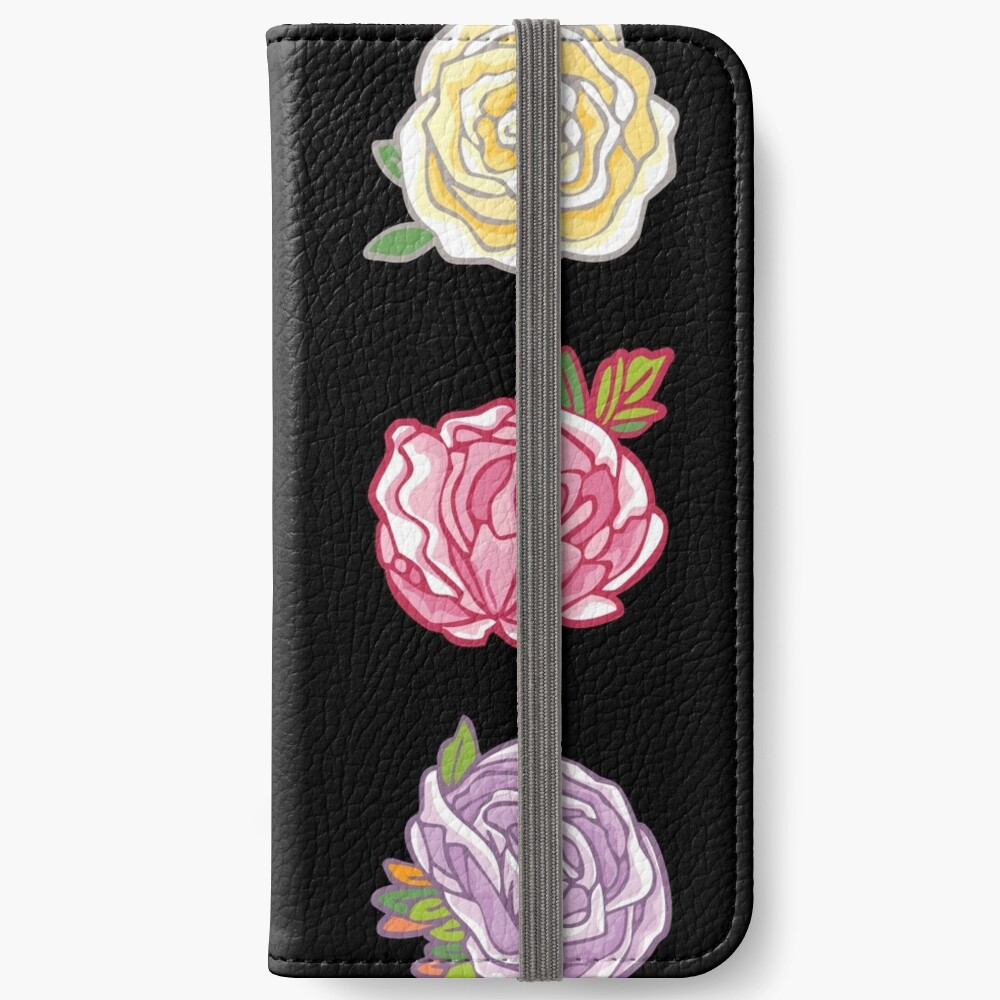 Decorative Roses iPhone Wallet