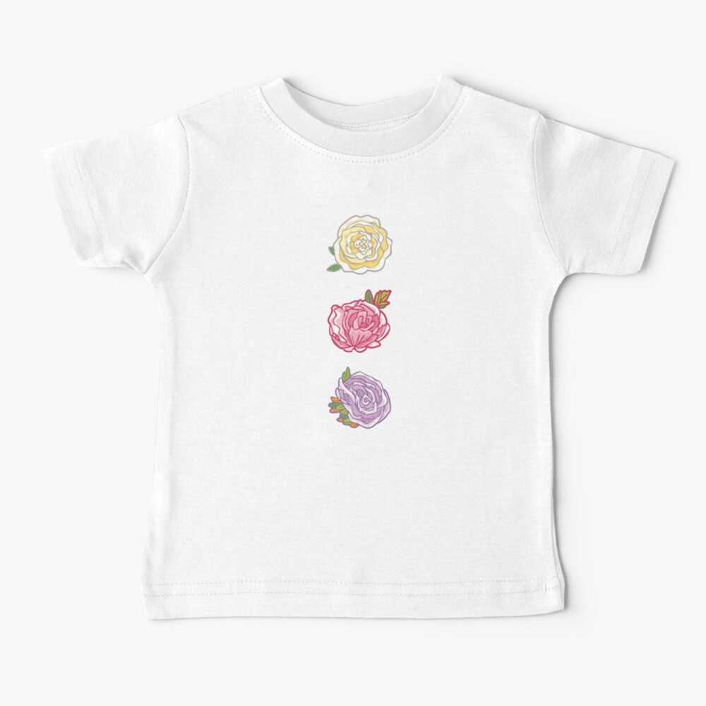 Decorative Roses Baby T-Shirt