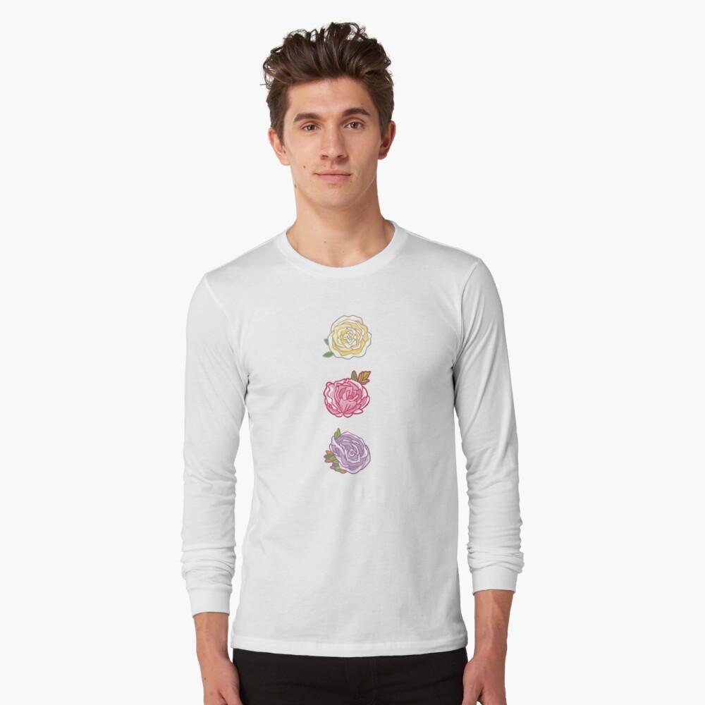 Decorative Roses Long Sleeve T-Shirt