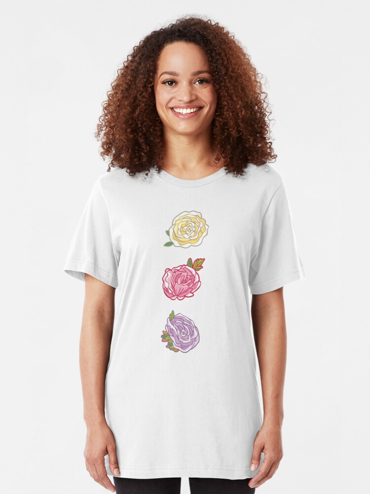 Alternate view of Decorative Roses Slim Fit T-Shirt
