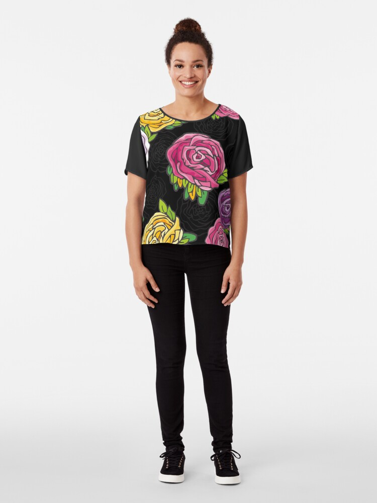 Alternate view of Vintage Roses Chiffon Top