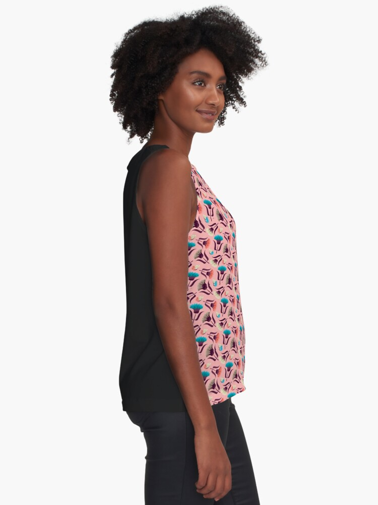 Alternate view of Beautiful Floral Pattern Sleeveless Top