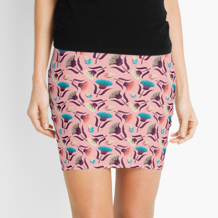 Beautiful Floral Pattern Mini Skirt