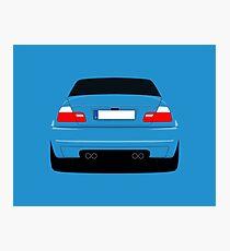E46 rear-end Photographic Print