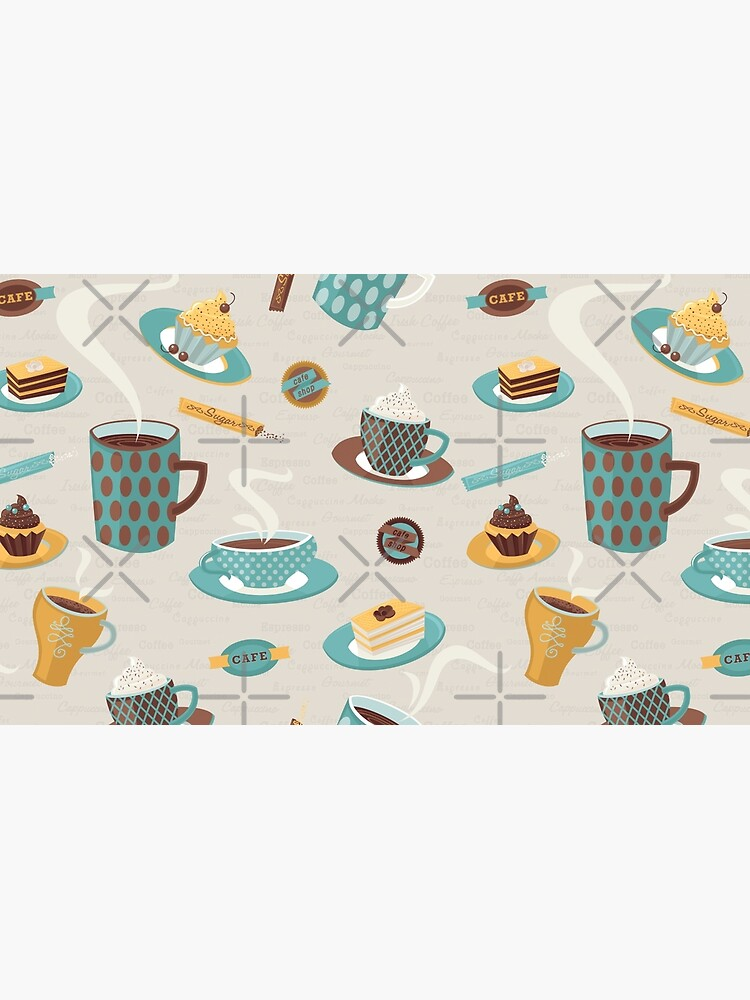 Morning Coffee Pattern  by rusanovska