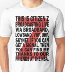 Z Nation: Citizen Z Speech Unisex T-Shirt